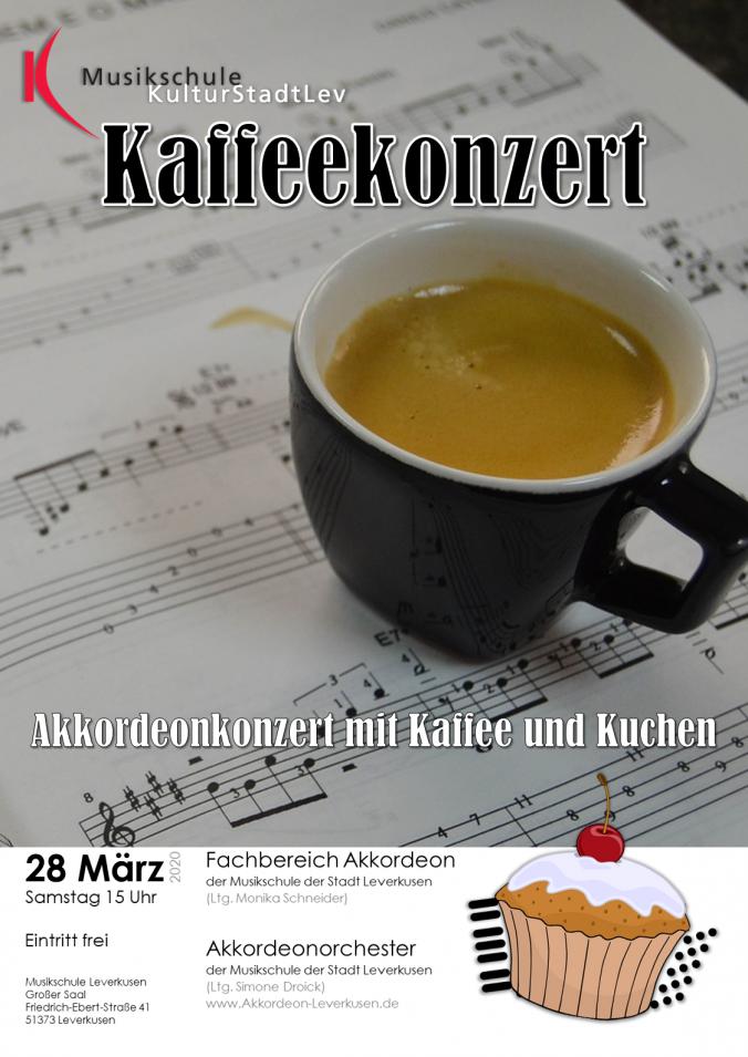 Plakat Kaffeekonzert 2020
