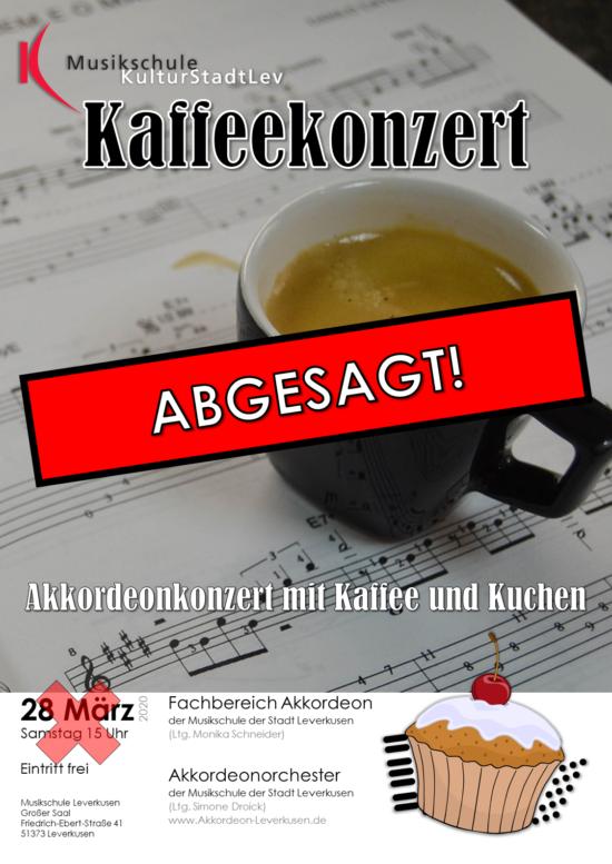 Plakat Kaffeekonzert 2020 ABGESAGT